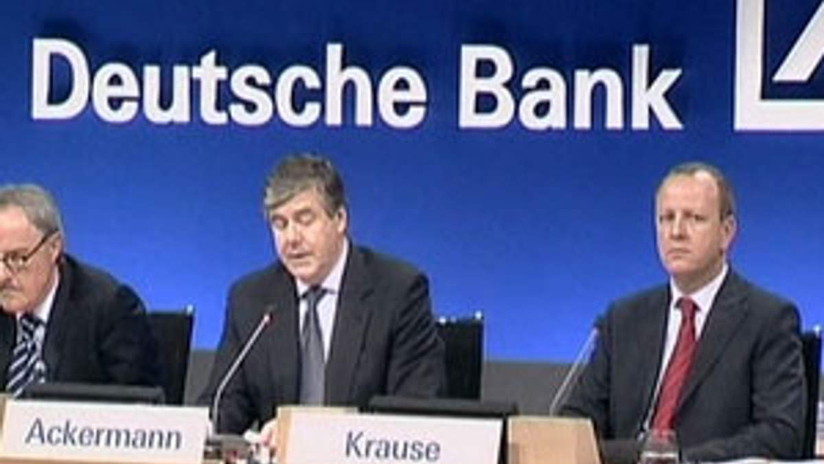 Чистая прибыль Deutsche Bank упала на 70%