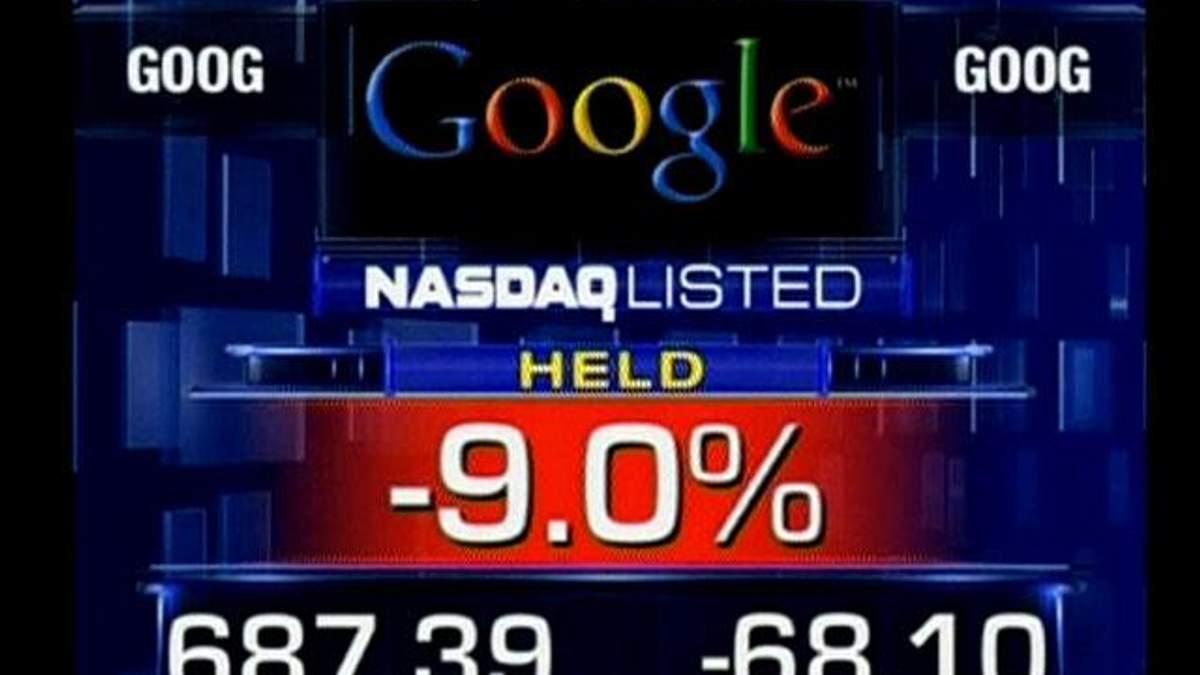 После ошибочной публикации отчета акции Google обвалились на 10%