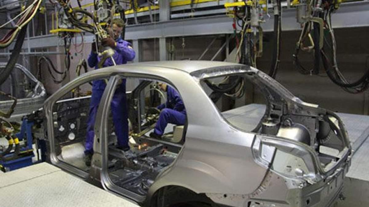 Україна у першому кварталі подвоїла виробництво легкових автомобілів