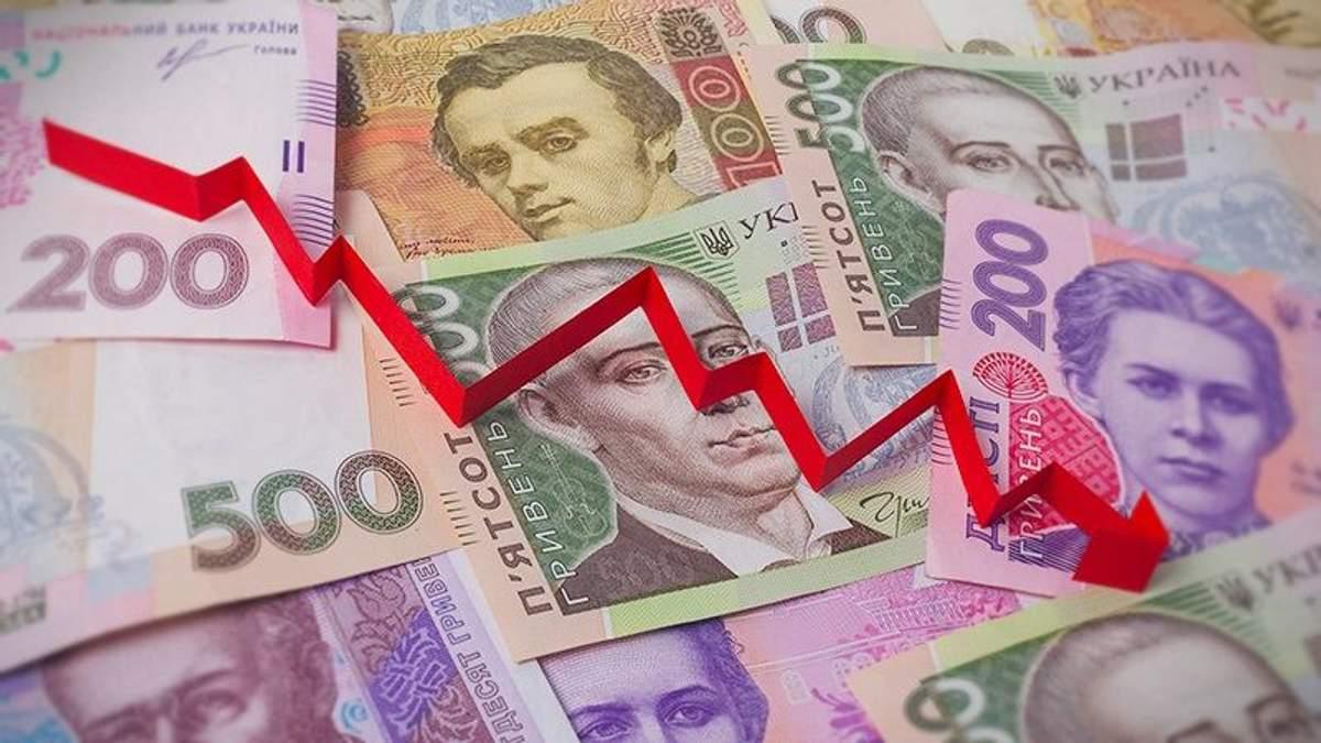 Курс гривні щодо долара в Україні знову падає