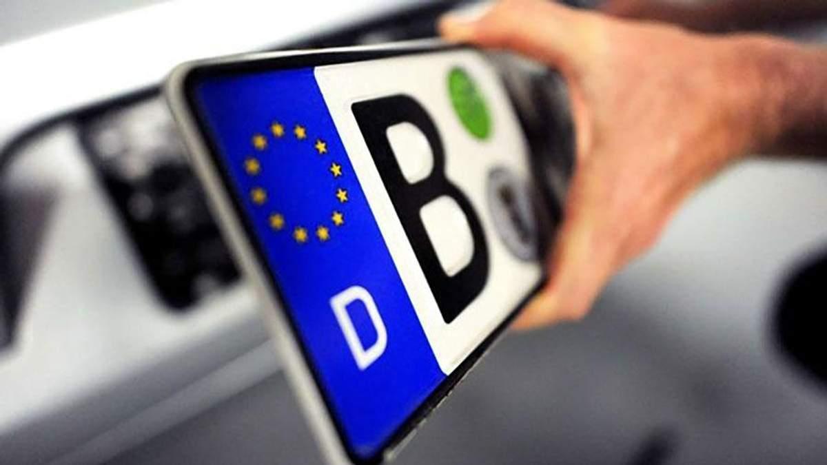 Рада хочет разрешить растамаживать автомобили на еврономерах за тысячу евро