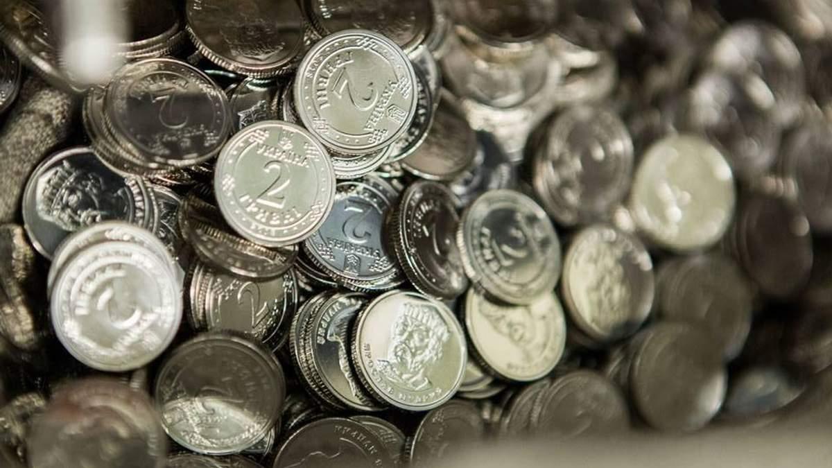 Монеты 1 и 2 гривны начнут выпускать в апреле 2018 в Украине
