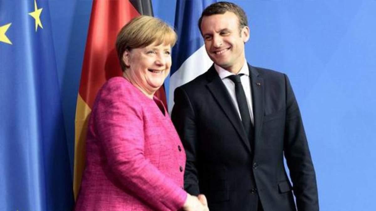 Макрон и Меркель обсудили миграционную политику