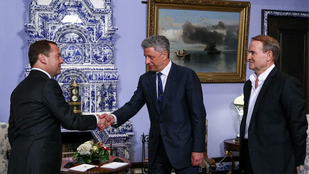 Российский премьер встретился в Москве с кумом Путина Медведчуком и Юрием Бойко