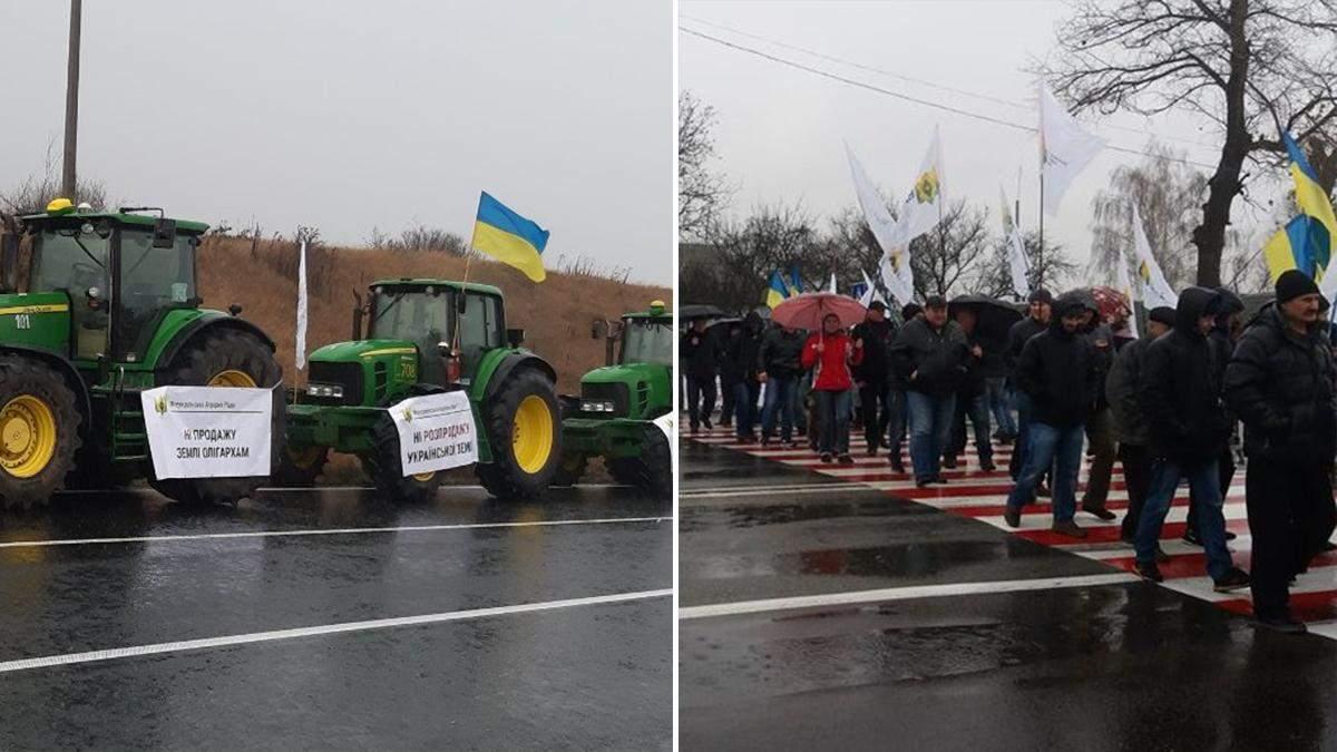Аграрії перекрили дороги проти продажу землі: де перекрили 11.11.2019