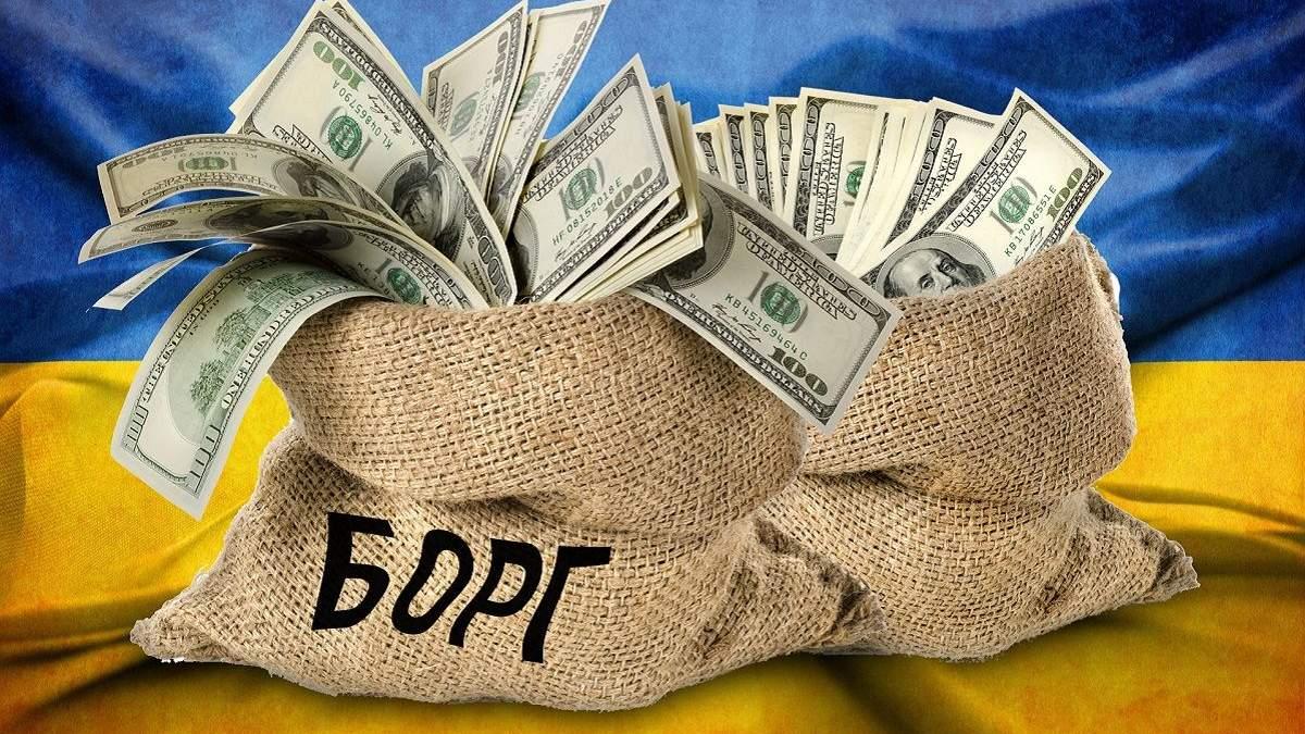 Государственный долг Украины опустился до показателя времен Януковича: инфографика