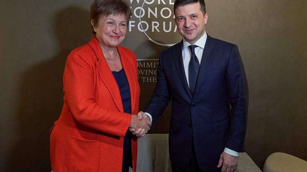 Зеленский встретился с главой МВФ в Давосе: о чем говорили