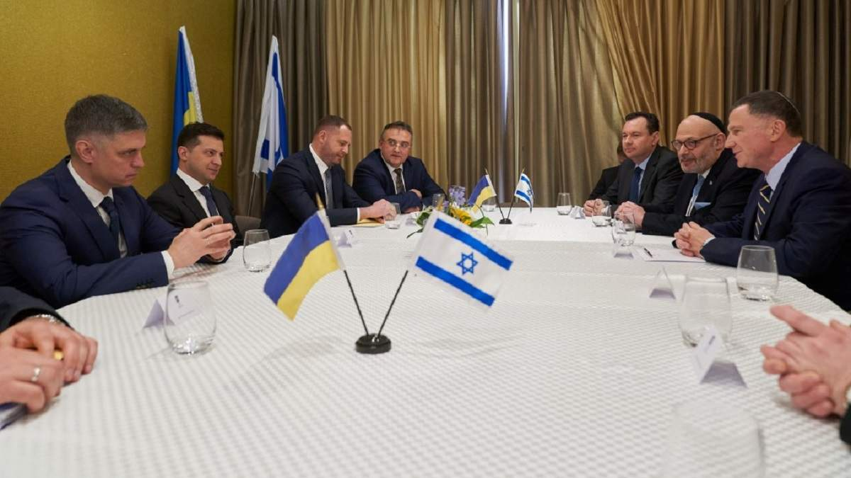 Зеленскьий встретился с председателем Кнессета Израиля