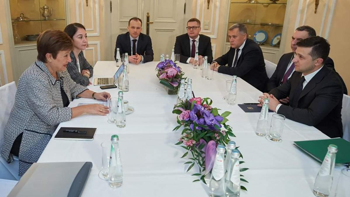 Зеленський зустрівся з головою МВФ Георгієвою