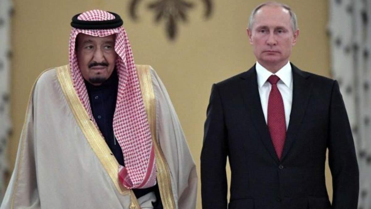Король Саудовской Аравии и Владимир Путин