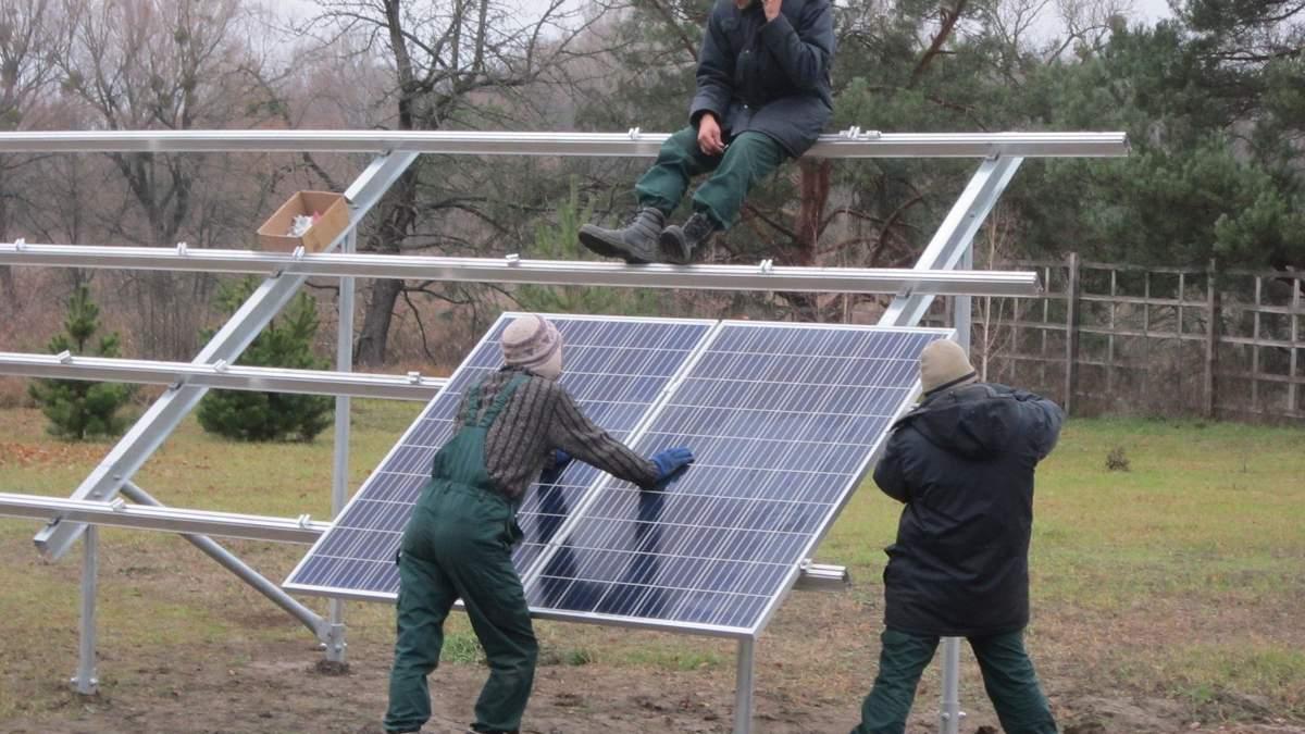 Так монтують сонячні панелі