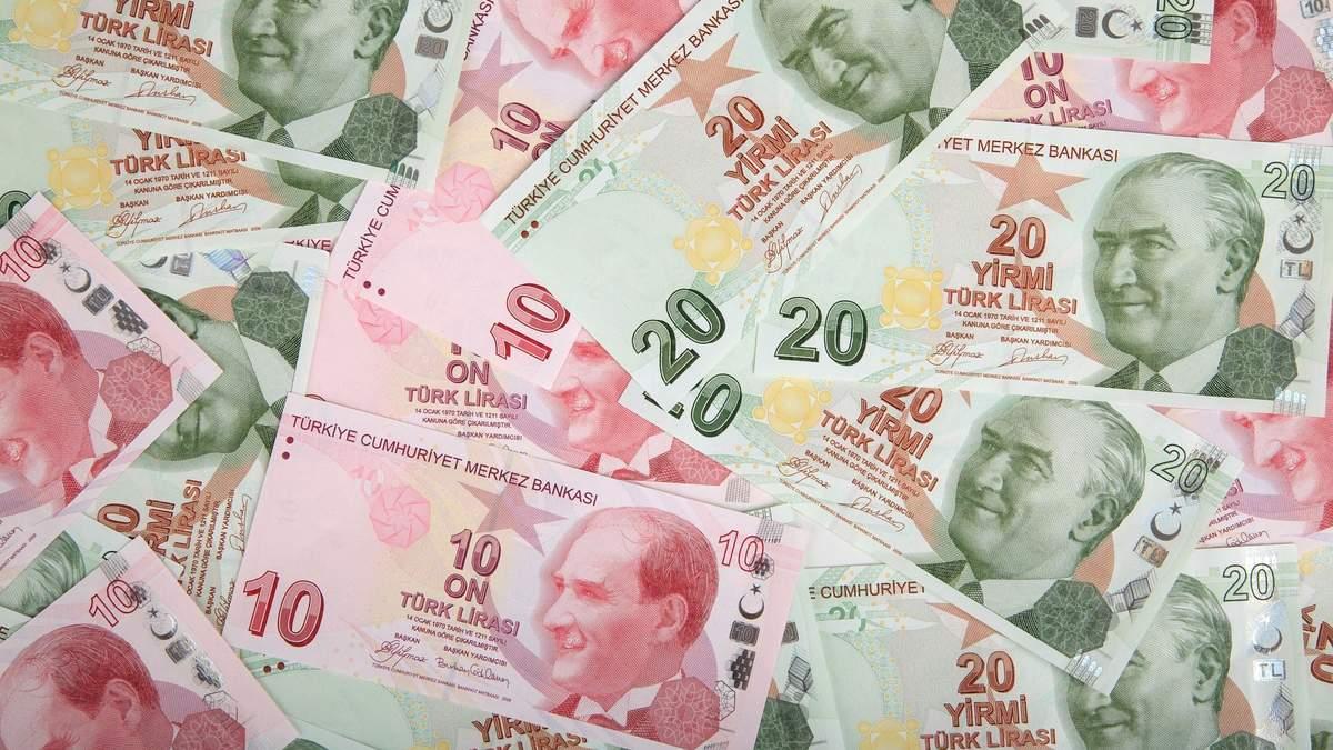 Турецька ліра рекордно впала, досягнувши історичного мінімуму