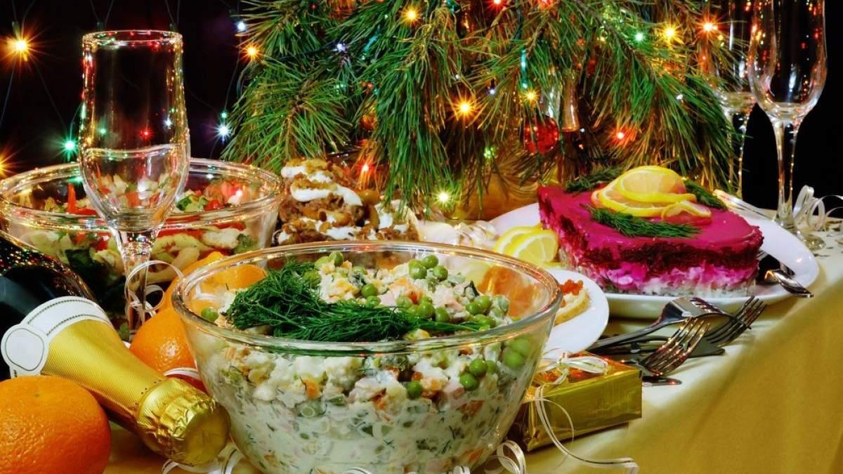 Стоимость новогоднего стола 2021 в Украине: цены на продукты