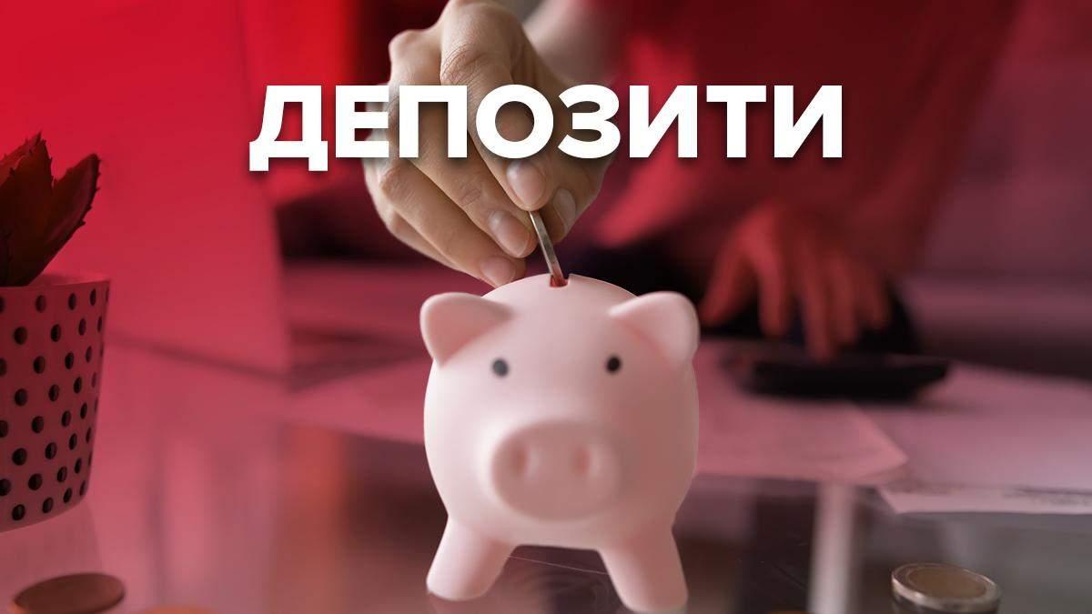 Депозитные ставки в банках Украины: список где выгодные условия