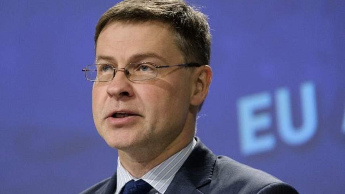 Валдіс Домбровскіс про другий транш від ЄС